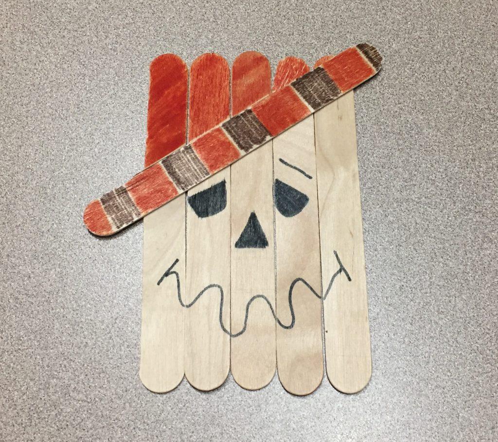 Scarecrow Frankenstein Popsicle Stick Crafty Doyles